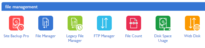 File Manager icon in Bluehost's CPanel.