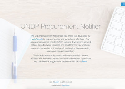 UNDP Procurement Notifier